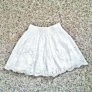 EUC Hinge Nordstrom Women White Cotton Skirt XS